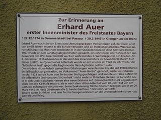 Erhard Auer German politician