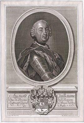 August Wilhelm, Braunschweig-Lüneburg, Herzog, 1715-1781
