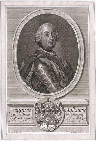Augustus William, Duke of Brunswick-Bevern - Image: August Wilhelm Braunschweig Bevern Ph A Kilian