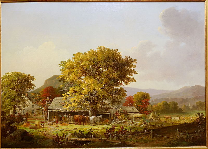 File:Autumn in New England, Cider Making, by George Henry Durrie, 1863 AD, oil on canvas - Museo Nacional Centro de Arte Reina Sofía - DSC08641.JPG
