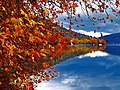 Autumn reflection in Kastoria lake, Greece.jpg