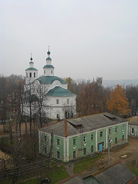 Avraamiev monastery in Smolensk - the view from the tower Zaaltarnoy.JPG
