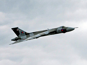 Avro Vulcan XH558 - XH558 over Woodford Aerodrome, 27 June 2015