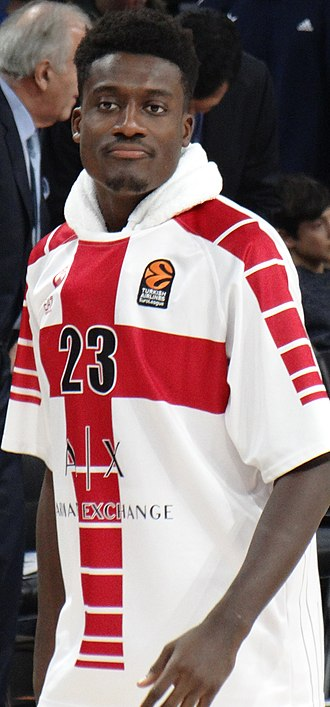 Awudu Abass - Abass with Olimpia Milano in 2017