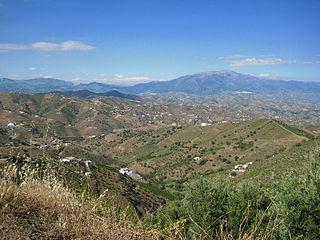 Sierra de Tejeda Mountain range in Spain
