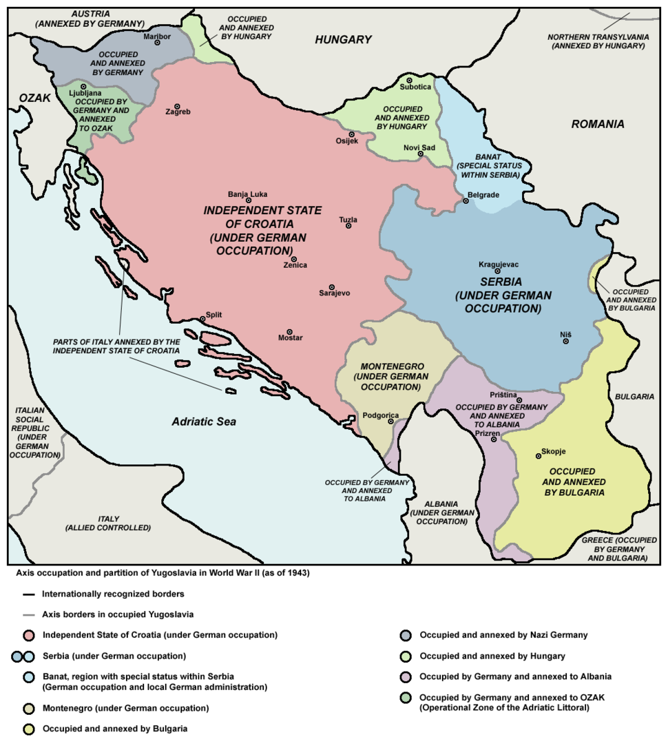 Axis occupation of Yugoslavia, 1943-44