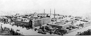 Tungsram - Tungsram works in Újpest in 1906
