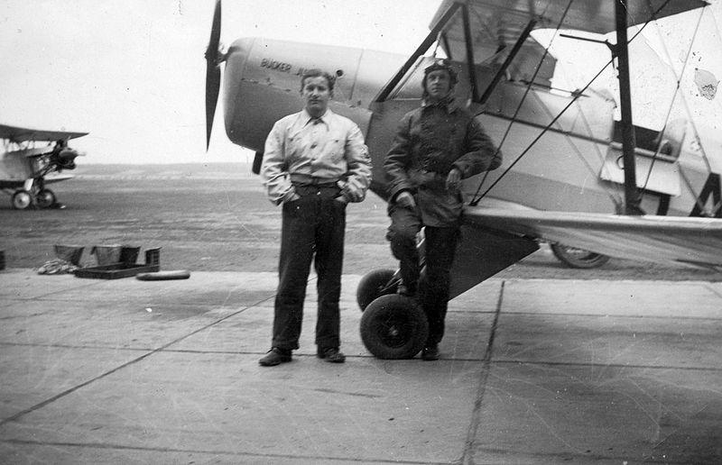 File:Bücker Bü 131 típusú repülőgép. Fortepan 26465.jpg