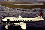 BA Viscount at NCL- G-APIM (15503898544).jpg