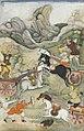 BILAL HABASI a folio from the 1598 razmnama the battle of dhristadyumna with aswattama.jpg