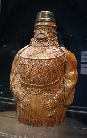 Bartmann jug - Bartmann Jug, 1525-50, Germany, Cologne (Victoria and Albert Museum)