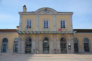 railway station in Bourg-en-Bresse, France