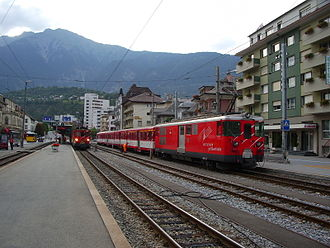 Brig-Glis - Train station of Brig