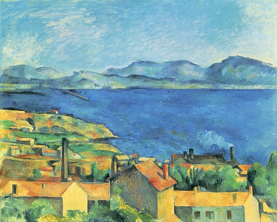 Baie de Marseille, vue de l'Estaque, par Paul Cézanne
