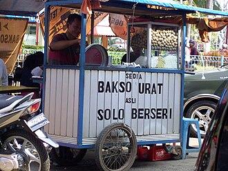 Bakso - Bakso urat street vendor from Solo.