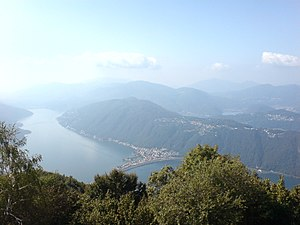 Melide, Switzerland - Melide along Lake Lugano