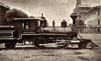 Denver and Rio Grande Western Railroad - Image: Baldwin 2 4 0, Denver & Rio Grande Montezuma, 1871