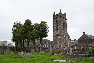 Ballymena - Image: Ballymena Church Street Tower of old Parish Church SE 2014 09 15