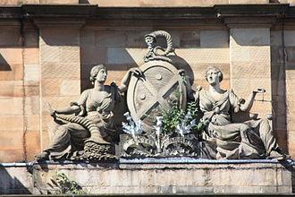 Bank of Scotland - Bank of Scotland crest, Head Office, The Mound, Edinburgh