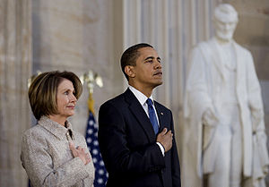 Pelosi and Obama before they stabbed each other in the back.