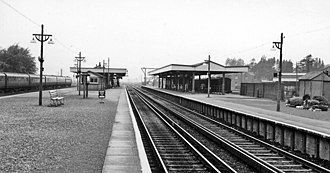 Barnham railway station - Barnham (Sussex) Station in 1961