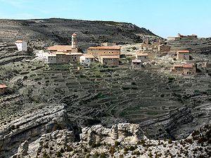Maestrazgo, Aragon - The town of Cañada de Benatanduz.