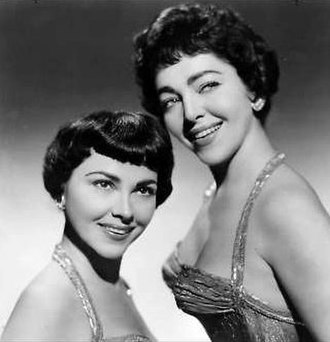 The Barry Sisters - Claire (left) and Merna Barry