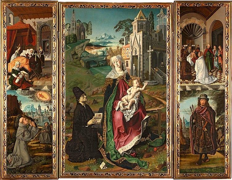 Archivo:Bartolomé Bermejo - Retablo della vergine di Montserrat.jpg