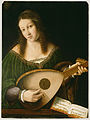 Bartolomeo Veneto and workshop - Lady Playing a Lute - 78.PB.221 - J. Paul Getty Museum.jpg