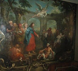 St Bartholomew's Hospital - Hogarth's mural of Christ at the Pool of Bethesda.
