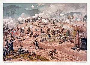 Battle of Allatoona - Battle of Allatoona Pass, 1897 illustration