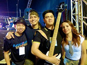 Kala (band) - from left to right: Voopee Elviña, Brian Tanchanco, Raymond Daylo and Jade Justine from KALA in Bayanihan Republic 2013