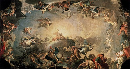 Bayeu y Subias, Francisco - Olympus, The Fall of the Giants - 1764
