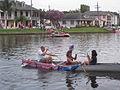 Bayou 4th Patriotic Bunting Canoe.JPG