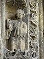 Bazas (33) Cathédrale Saint-Jean-Baptiste Façade ouest Portail central 3ème voussure 09.JPG
