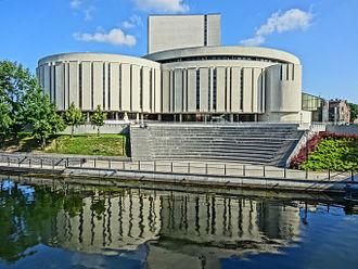 Opera Nova Bydgoszcz - Opera Nova from Mill Island in Bydgoszcz