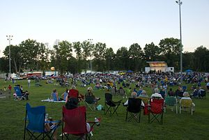 Hanover Township, New Jersey - Bee Meadow Park in the Whippany section of Hanover Township during the Summer Concert Series.