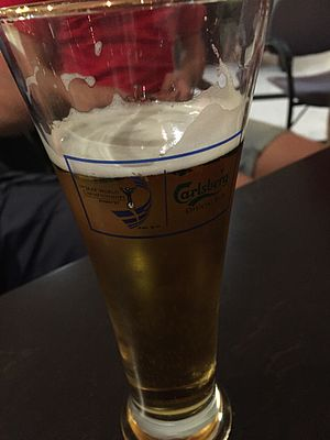 1997 World Championships in Athletics - Beer glass with championships branding
