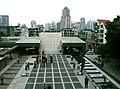 Behind the façade of St. Paul's in Macau.jpg