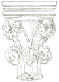 Belmont Abbey Loggia Left Capital Camille Enlart 1921.png