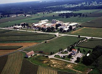Henry A. Wallace Beltsville Agricultural Research Center - Aerial view of BARC's Dairy Research Facility