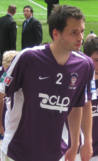 Ben Purkiss - Purkiss after playing for York City in the 2009 FA Trophy Final