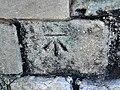 Bench Mark on gateway at Caernarfon - geograph.org.uk - 1811369.jpg