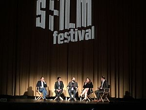 Bending the Arc - Dr. Jim Kim, a Partners in Health patient, Pedro Kos, and Cori Shepherd Stern discuss the film at the SF Film Festival on April 14, 2017