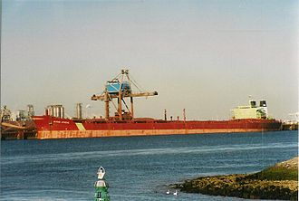 Capesize - MV Berge Athene, a capesize bulk carrier of 225,200 DWT, built in 1979.