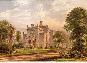 Jagdschloss Glienicke - Jagdschloss Glienicke after remodeling by Ferdinand von Arnim, around 1865