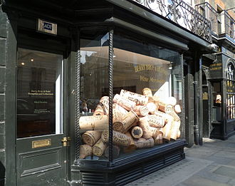 Berry Bros. & Rudd - Window display at 4 St James's Street
