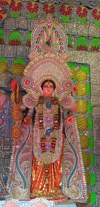 Bhairavi - Bhairavi worshipped with other Mahavidyas in a Kali Puja pandal in Kolkata.