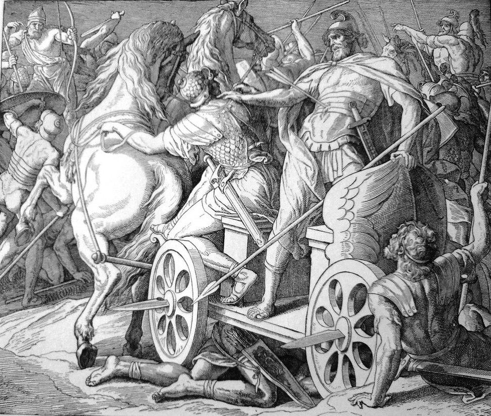 Bible Achabova smrt