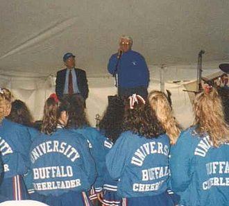 Bill Greiner - Bill Greiner Speaking to Students at UB Homecoming Football Game vs. Hofstra, October 1992